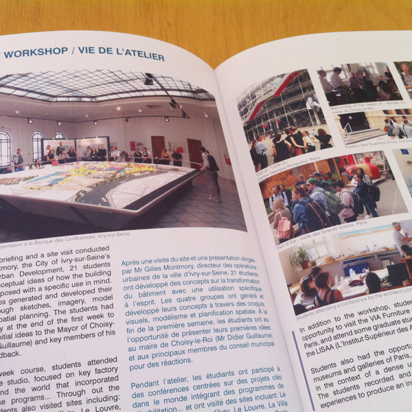 Brochure of the student workshop FIT RMIT – Paris (FR)
